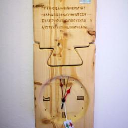 orologio tavola doppia